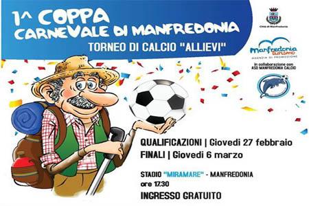 """Carnevale di Manfredonia 2014: Torneo di calcio """"Coppa Carnevale di Manfredonia"""""""